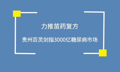力推苗药复方 贵州百灵剑指3000亿糖尿病市场